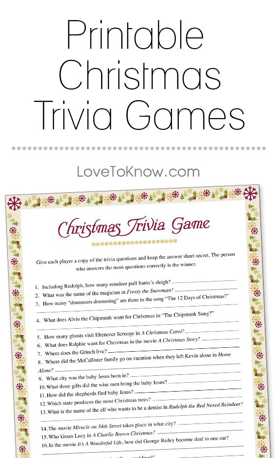 Best 25 christmas movie trivia ideas on pinterest christmas a printable trivia game that covers all things christmas from popular music and movies to sciox Gallery