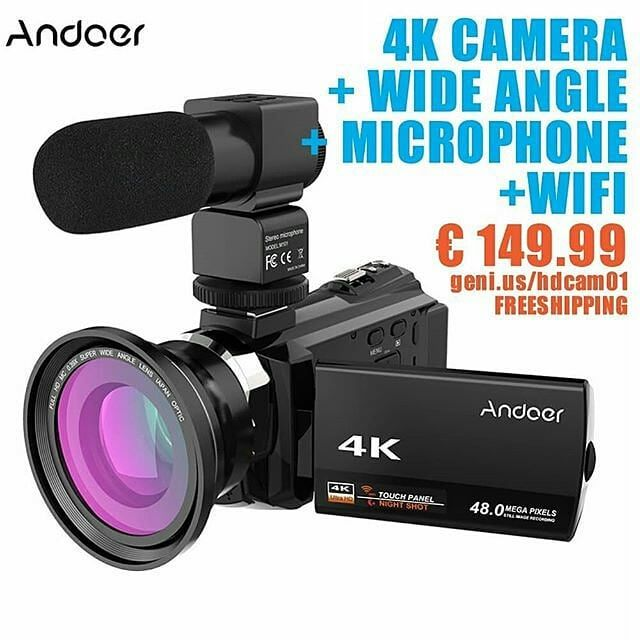 4K CAMERA WIDE ANGLEMICROPHONEWIFI 149.99  #vlog #vlogging #4k #hdr #camera #hdcamera #sony #red #photography #video #wideangle #macro #selfie #canon #lumix #videography #musicvideo #youtube #youtuber #travel #cinematography #vlogger #beautyvlogger