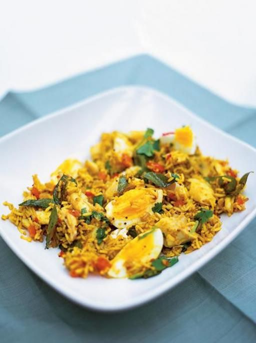 Kedgeree - British/Indian dish w/haddock and spicy curry basmati