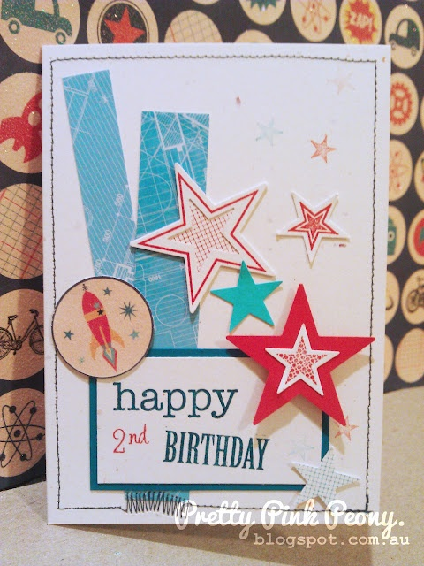 Boys Birthday card ~ Stampin' Up Seeing stars