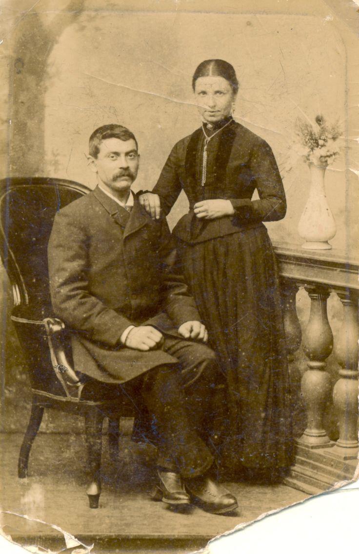 Foto van het echtpaar Jos. L. van der Meulen en Wilh. H. Ansems Helmond