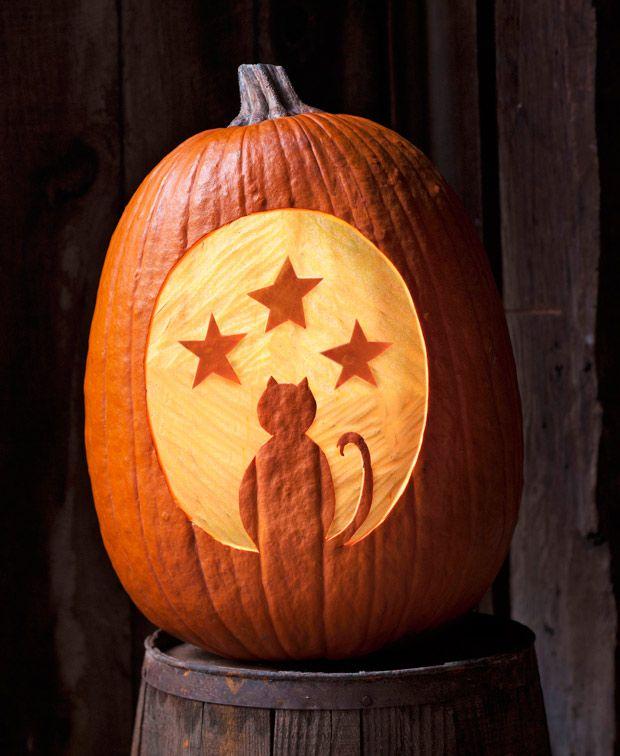 25 best unique pumpkin carving ideas on pinterest for Cat carved into pumpkin
