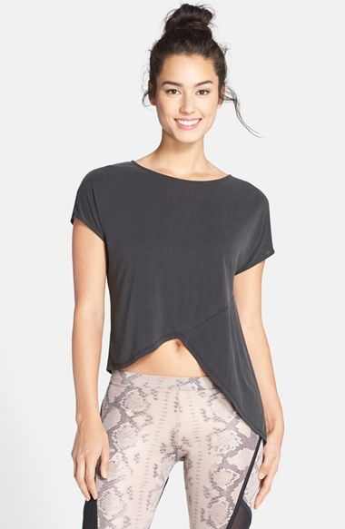 Solow+Asymmetric+Jersey+Tee+available+at+#Nordstrom