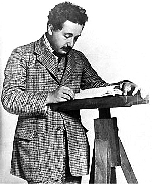 """1915, Albert Einstein published his papers on General Relativity and the Equivalence Principle which were received with a great deal of skepticism. According to General Relativity, the gravitational attraction between masses results not from some hidden force but from the warping of space and time by those masses. He also said there was no such thing as """"ether"""". And, he predicted from his theory that light from distant stars would be bent by the sun."""