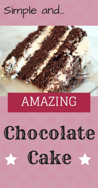 Absolutely amazing Chocolate Cake. Way better than box cake and just as easy. With this recipe I will show you how to make a great homemade chocolate cake from scratch in minutes.