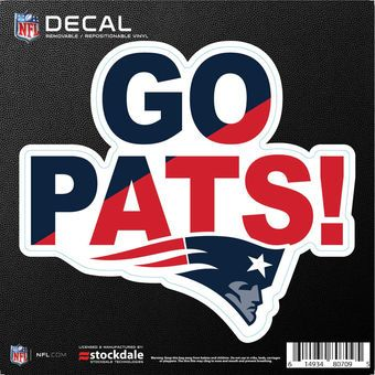 """New England Patriots 6"""" x 6"""" Xpression Full Color Repositionable Decal"""