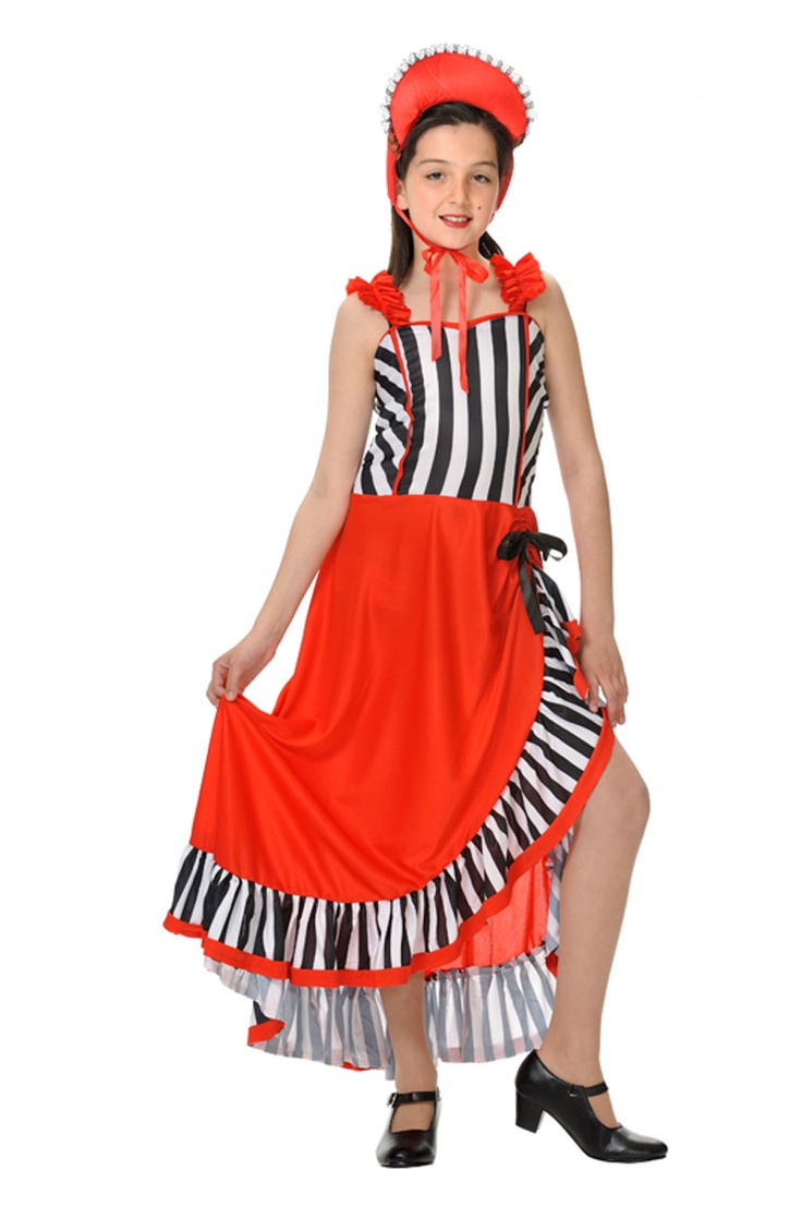 disfraz de moulin rouge para niña