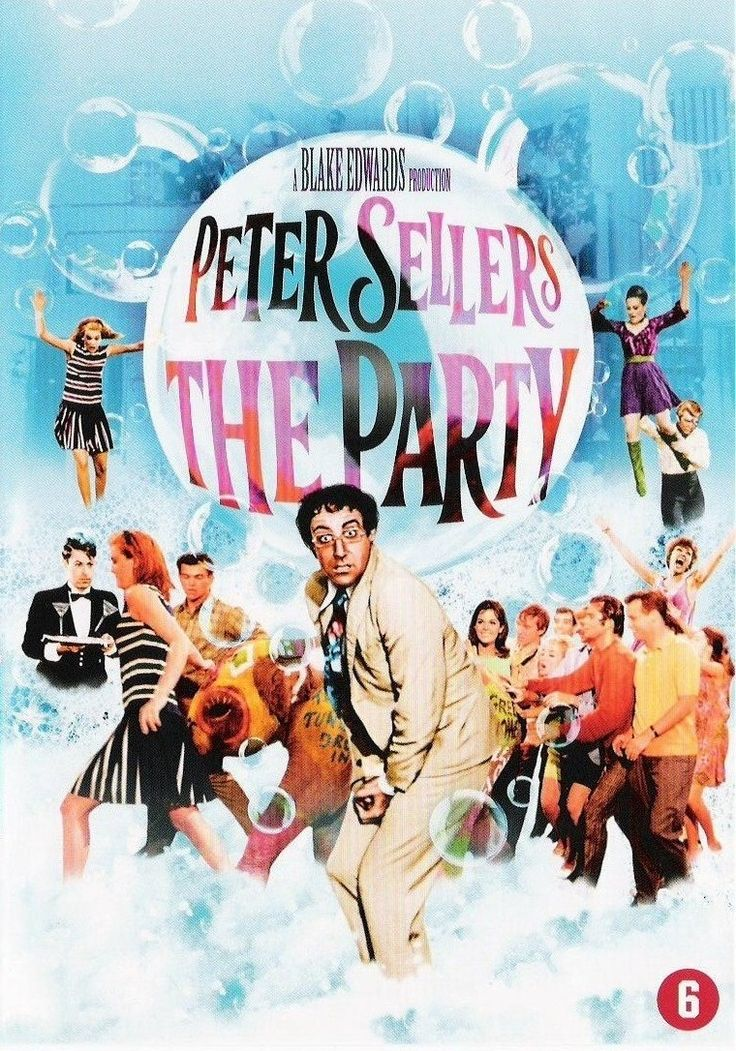 The Party (1968) - A clerical mistake results in a bumbling film extra being invited to an exclusive Hollywood party instead of being fired