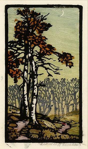 Frances Hammell Gearhart Woodcut
