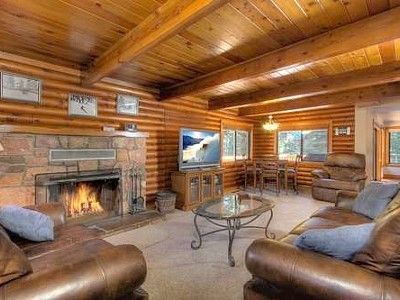luxury cabin bathrooms | Reed Luxury Lake Tahoe Cabin Rental with Hot Tub Vacation Rental in ...