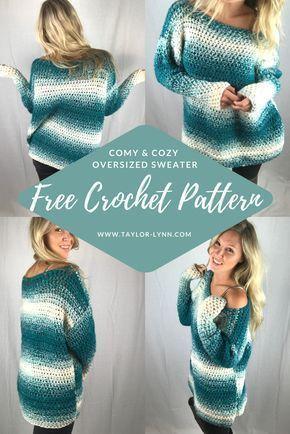 Suéter de crochê, padrão de suéter de crochê, padrão de suéter