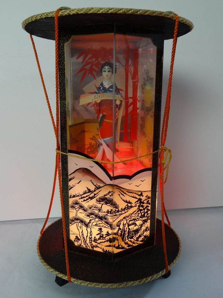 Vintage Asian Japanese Geisha Girl Night Light Or Table