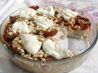 W Mojej Kuchni Lubię.. : tarta śliwkowo-ryżowa z płatkami owsianym...