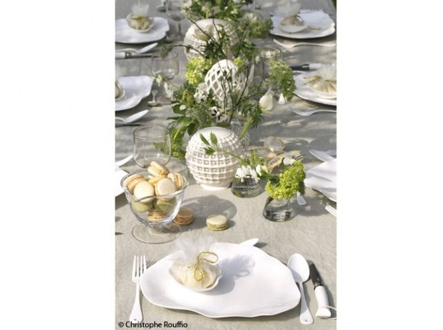 48 best art de la table en blanc images on pinterest - Decoration table champetre jardin la rochelle ...