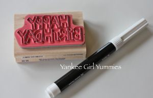 Coloring in the stamp. Yankee Girl Yummies