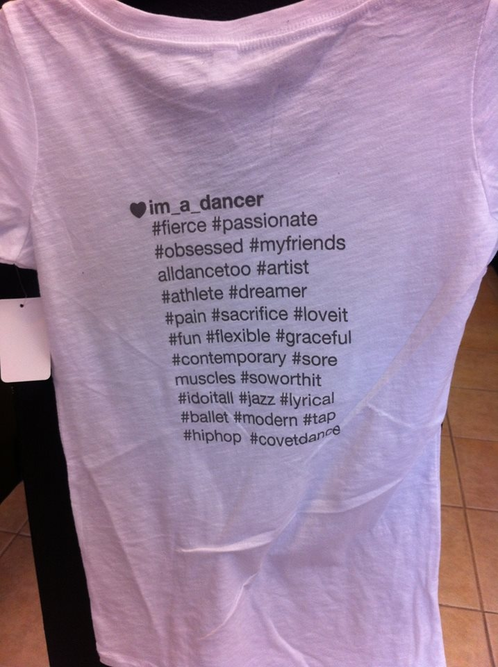 Super Soft V neck Dancer Hashtag T-shirts