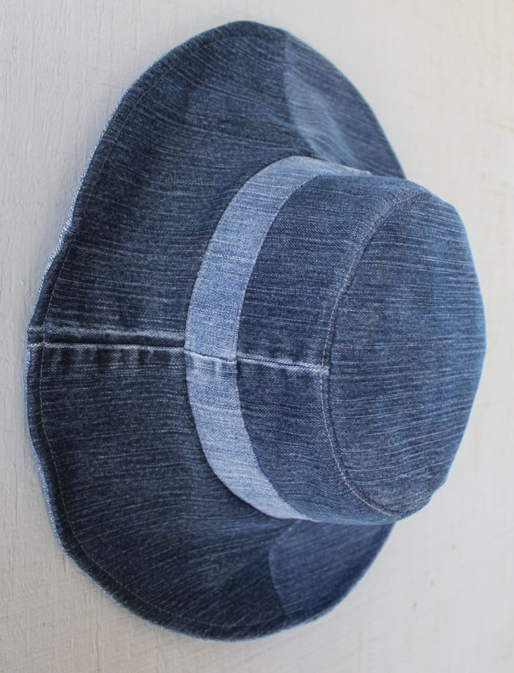 Denim Reversible Bucket Hat - Two Hats in One by AllintheJeans on Etsy