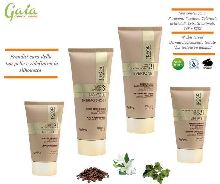 Prenditi cura della tua pelle e ridefinisce la silhouette con i prodotti della linea TRE ORI di ARDES COSMETICI.