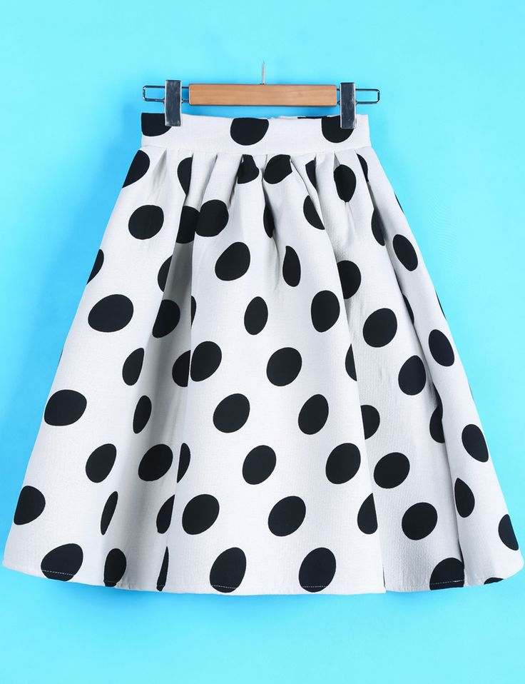 Falda topos-blanco US$28.33
