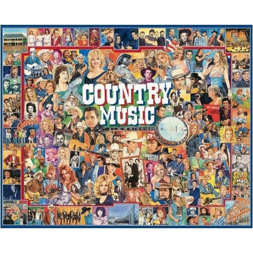 All of Country's greatest artists from decades past to present day are represented in this jigsaw puzzle. Willie, Shania, Dolly, Hank, Mr. Johnny Cash, the Statler Brothers, and tons of other County music favorites are artfully depicted here.  $14.99  http://www.calendars.com/Country-Music/Country-Music-1000-Piece-Puzzle/prod1279251/?categoryId=cat00084=cat00084#