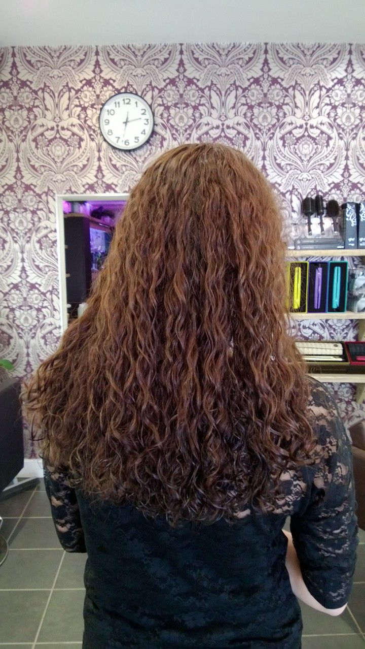 Straight perm for thick hair - Result Long Hair Perm Beautiful Curls Good Work Wendy