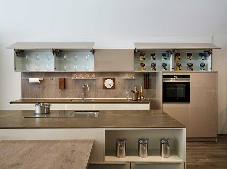 Snug kitchens newbury pronorm x line kitchen display wall for Kitchen display wall