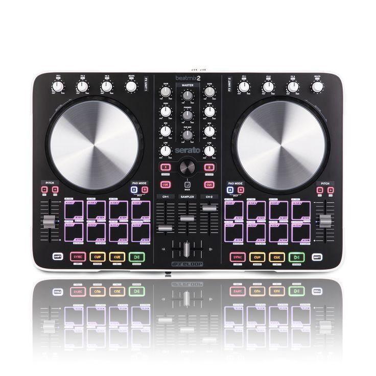 """Il Reloop BeatMix 2 è un Pad Controller 2-Canali orientato alle performance per Serato. Entrambe le società hanno unito le loro forze per sviluppare un controller 2-Canali """"divertente da usare"""" per far funzionare completamente plug 'n' play Serato, il software DJ più popolare al mondo. Beatmix 2 offre un layout ergonomico del mixer 2-Canali, ottimizzato per i club, che consente di lavorare in modo intuitivo: equalizzatore dedicato e manopole del guadagno, line-fader di alta qualità, un ..."""
