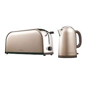 Kenwood Metallics Kettle And Toaster Latte Steel For