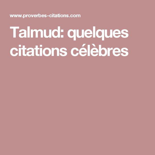 Talmud: quelques citations célèbres