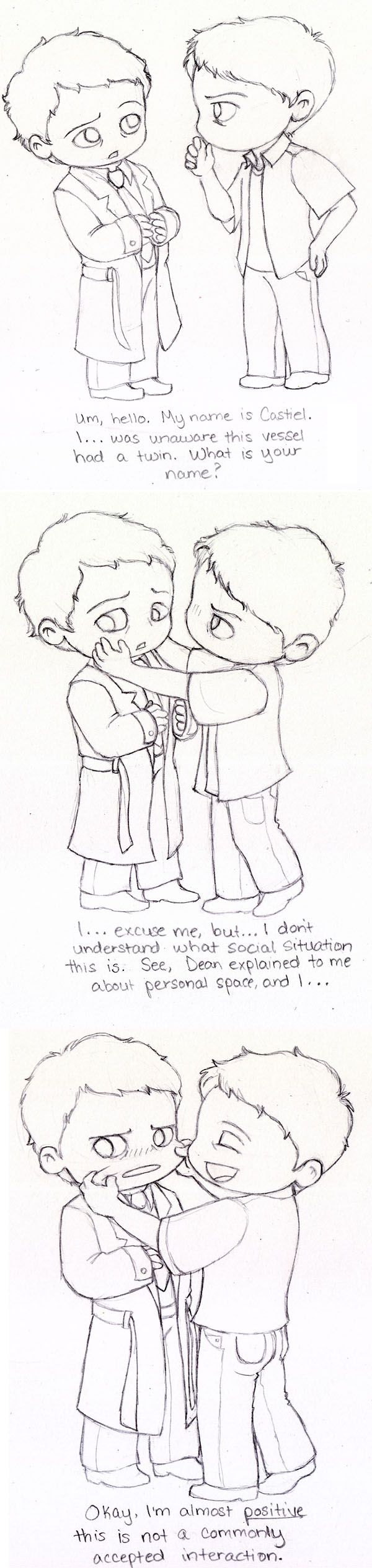 Castiel Meets Misha by Slashtastic.devia... on @deviantART <--It would be awesome if they did an episode on Castiel meets Misha.