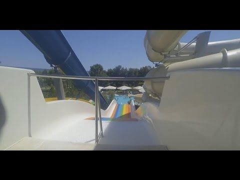 Rainbow Water slide fun ride in Lykia World Antalya Turkey