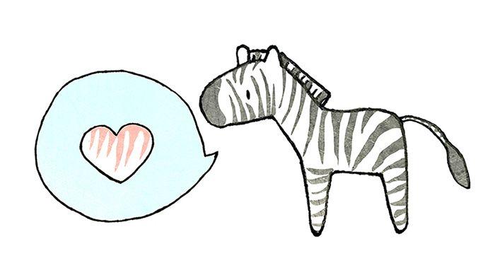 A zebra in love - Tintin Illustrations #illustration
