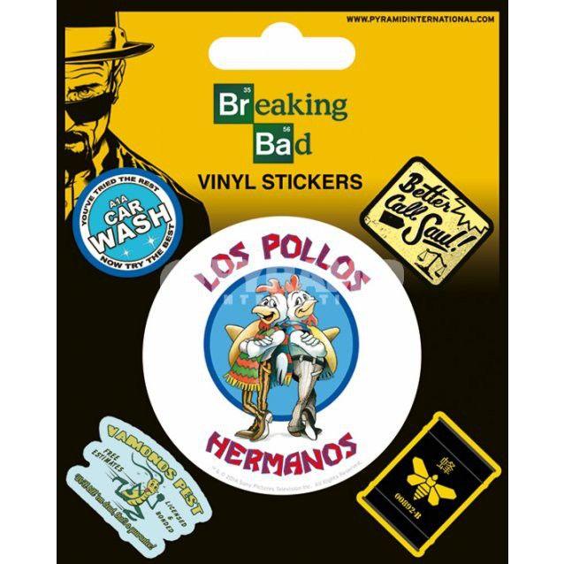 Pack de 5 Stickers Breaking Bad