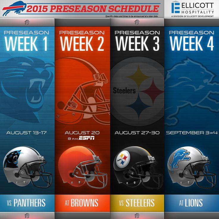 Bills announce 2015 preseason schedule