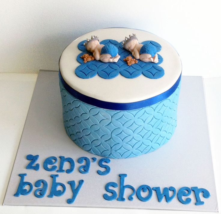 Twin Baby Shower Cake Like us at www.facebook.com/melianndesigns