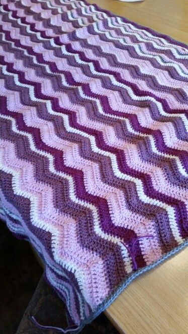 Ripple blanket made throughout the duration of our weekly crochet group