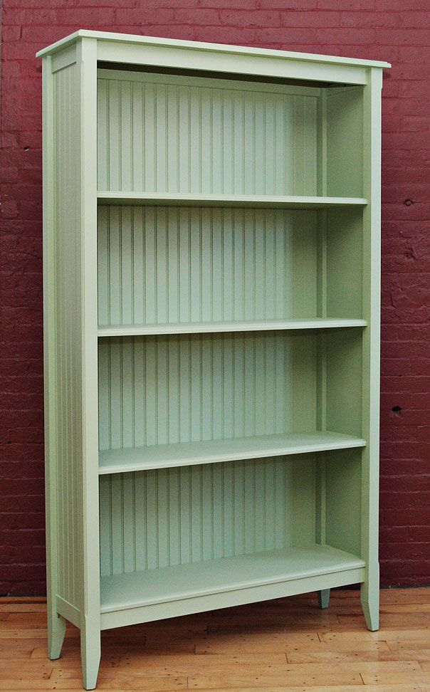 Cottage Painted Furniture Wide Deep Bookcase IN White