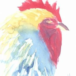 Art: Rooster, Sold!! by Artist Kim Wyatt