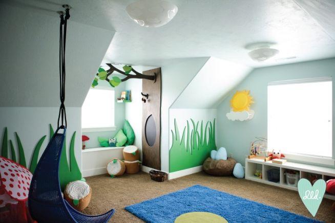 Woodland Nature Playroom-- Design Loves Detail