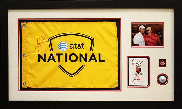 Signed Golf Flag In A Custom Frame By Art And Frame