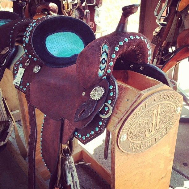 One of the many saddles we had with us at the Summer Shootout. (Double J Saddlery)