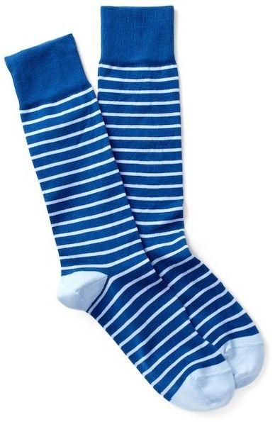 Peter Millar Nautical Stripe Crew Socks