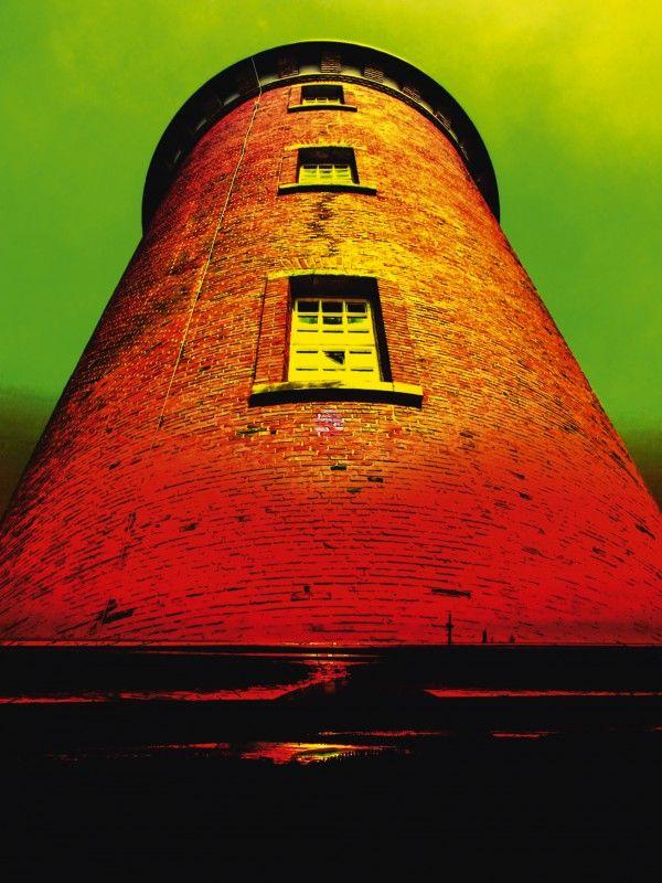 Walter Zettl: Leuchtturm-Romantik Cuxhaven - Leinwandbild auf Keilrahmen Leinwandbilder
