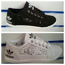ladies adidas lace trainers