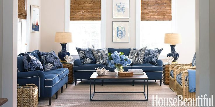 A Blue and White Family Room