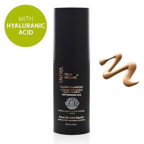 INIKA Truly Organic Liquid Foundation 1. Cream - NIEUW nu met Hyaluronzuur!