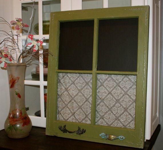 Window frame message board. Chalkboard and by KimberlyBarrInterior, $60.00