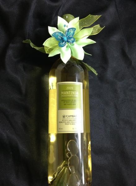 Wine Bottle with Flower Boubou (Wedding)