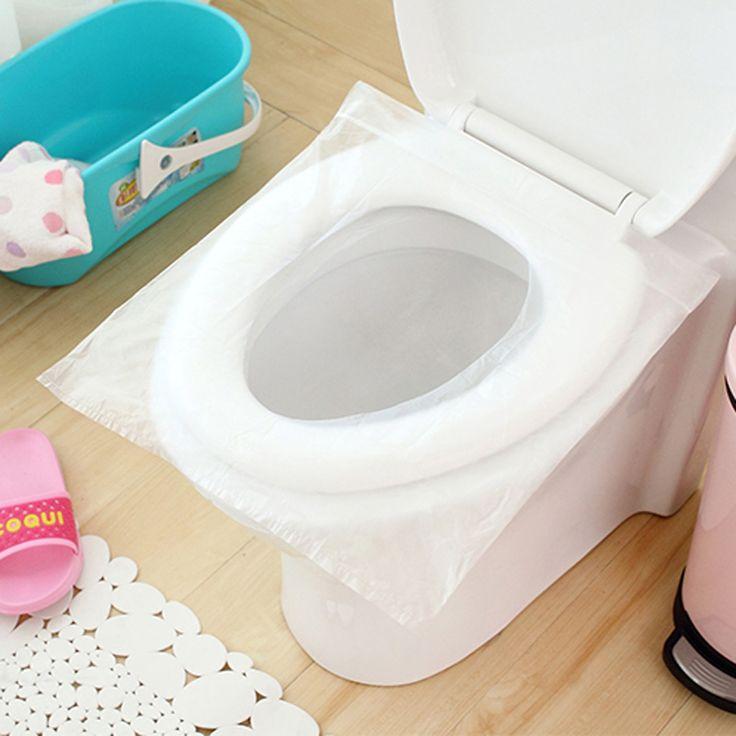 50Pcs/100Pcs Travel Safety Plastic Disposable Toilet Seat Cover Waterproof 40*48cm