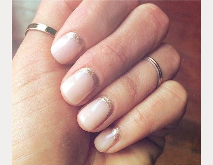 half moon glitter minimalist nail design - Best 25+ Moon Nails Ideas On Pinterest Navy Nail Designs, Matt